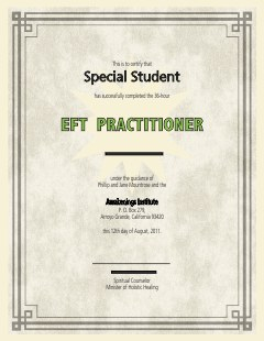 EFT Certification Diploma